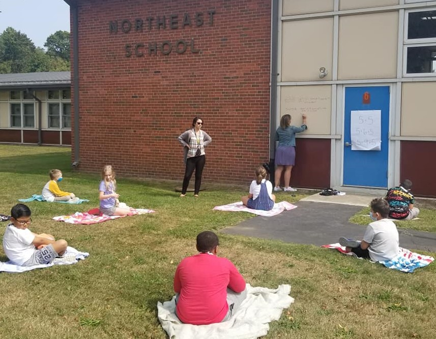 Northeast School outdoor class